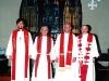 歴代4牧師の写真(2000/10/8、右より賀来、キスラー、石居、大柴)